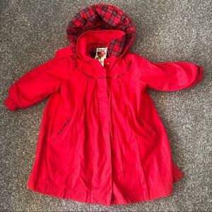 Rothschild lined jacket red plaid size 4